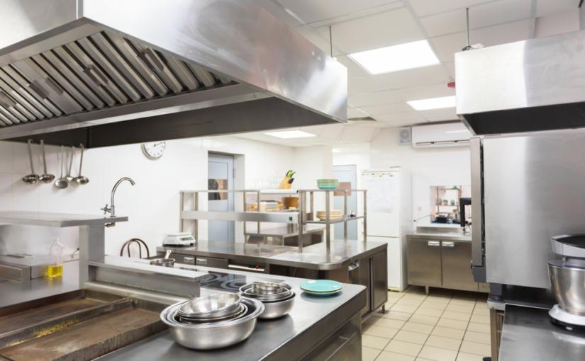 Equipamentos de segurança para uma cozinha industrial